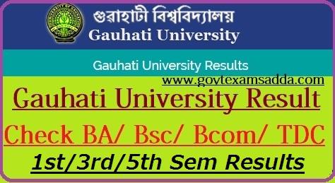 Gauhati University Result 2018-19