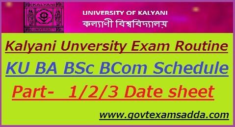 Kalyani University Routine 2019