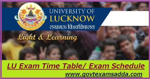 Lucknow University Time Table 2019