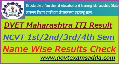 DVET ITI Maharashtra Result 2018
