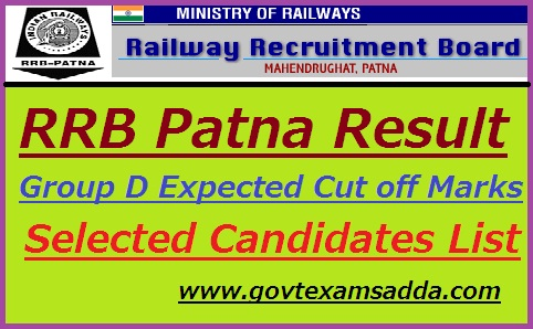 RRB Patna Group D Result 2019