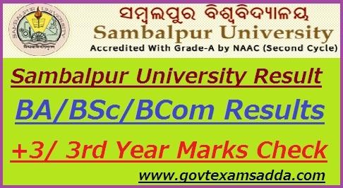 Sambalpur University Result 2018-19