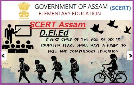 SCERT Assam D.El.Ed PET Admission Notification 2019