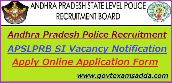 AP Police SI Recruitment 2020