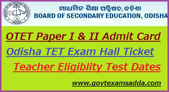OTET Admit Card 2018-19