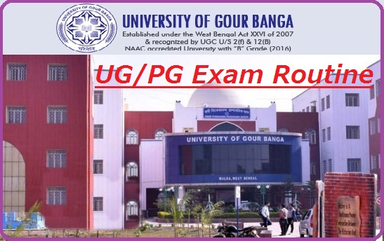 Gour Banga University Exam Routine 2019