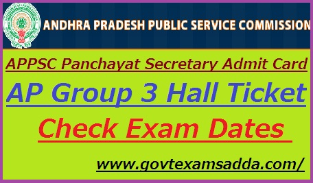 APPSC Panchayat Secretary Admit Card 2019