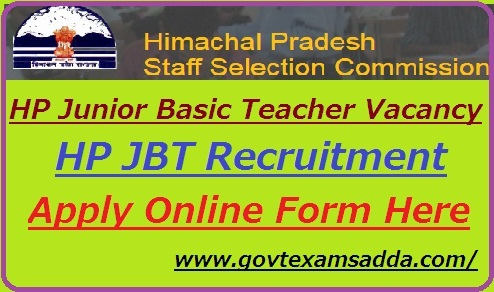 hp-jbt-teacher-bharti-2019-notification Online Form Hp Govt Job on