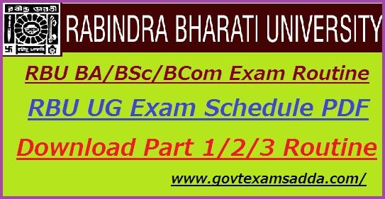 Rabindra Bharati University DDE Exam Routine 2019