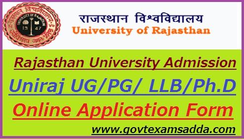 Rajasthan University Admission Form 2019