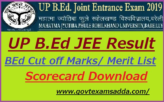 UP JEE BEd Results 2019