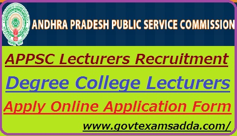 APPSC Lecturers Recruitment 2019