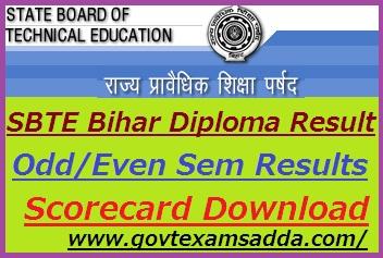 SBTE Bihar Polytechnic Diploma Result 2019
