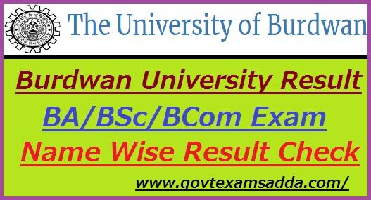 Burdwan University Result 2019