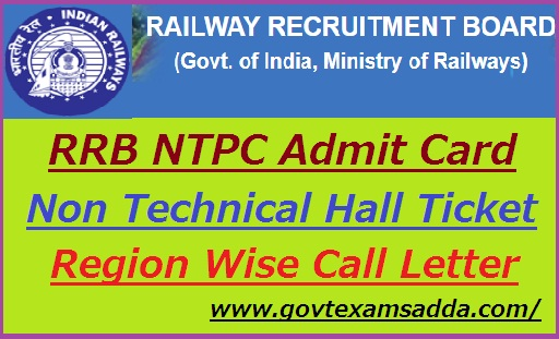 RRB NTPC Admit Card 2019-20