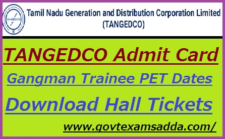 TANGEDCO Admit Card 2019