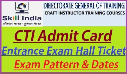 CTI Admit Card 2019 CTI Entrance Exam Hall Ticket Download