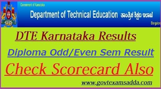 DTE Karnataka Result 2019