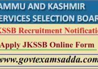 JKSSB Bharti 2021 Onlne Form