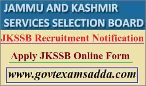 JKSSB Recruitment 2021 Notification
