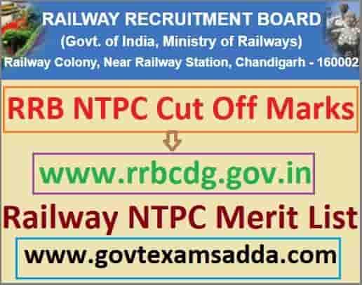 Railway NTPC Cut Off Marks 2021