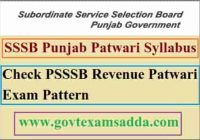 PSSSB Revenue Patwari Exam Syllabus 2021