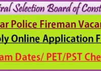 Bihar Police Fireman Recruitment 2021